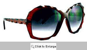 Christina Amazing Beveled Sunglasses - 326 Cherry