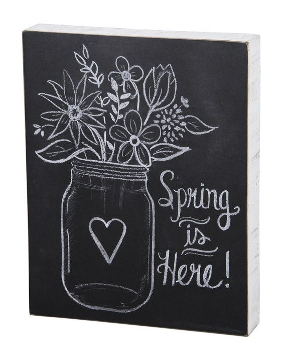 Chalk Sign - Spring is Here