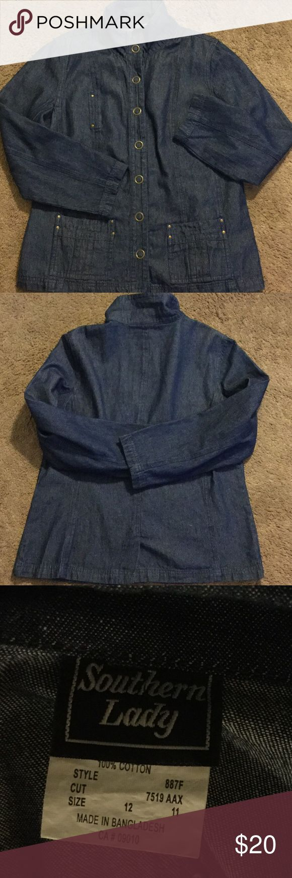 Southern Lady Denim Jacket, Size 12 Southern Lady Denim Jacket, Size 12, gently worn Southern Lady Jackets & Coats Jean Jackets