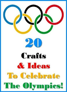 Olympic Crafts.  Fun way to get into the Olympic spirit.