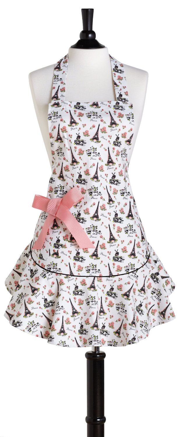 White ruffle apron amazon - Before Getting Busy In The Kitchen Nothing Gets You In The Mood To Cook And Bake More Than Donning A Cute Apron I Ve Been Perusing Amazon For Some Of The