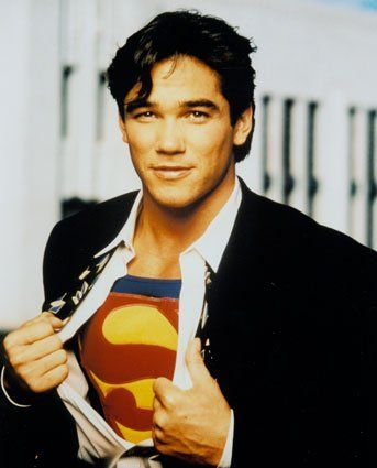 Dean Cain (My first crush....and I still find him hot....until he starts talking politics. Just shut up honey, and take off your Clark Kent  clothes!)