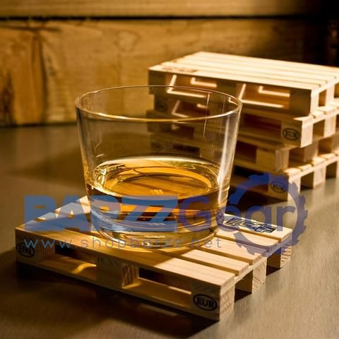 Mini Wooden Pallet Beverage Coasters Kitchenware