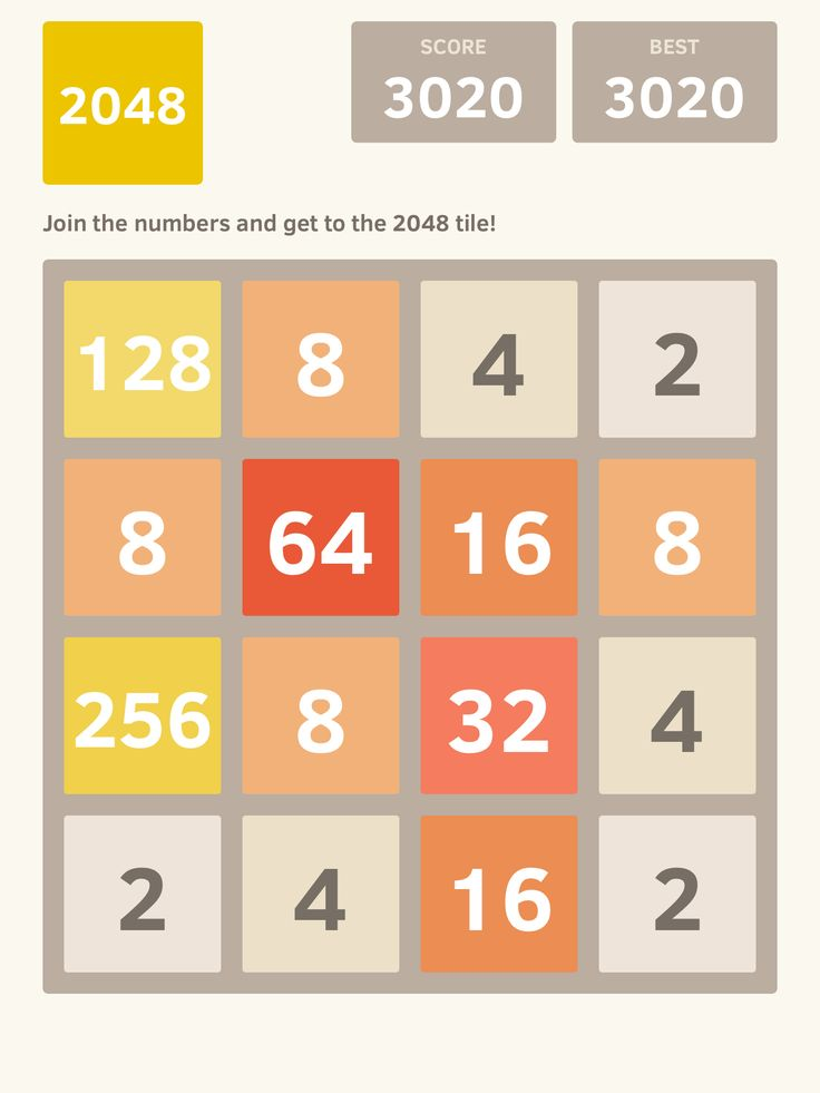 I scored 3020 points at 2048, a game where you join numbers to score high! @2048_game https://itunes.apple.com/app/2048/id840919914