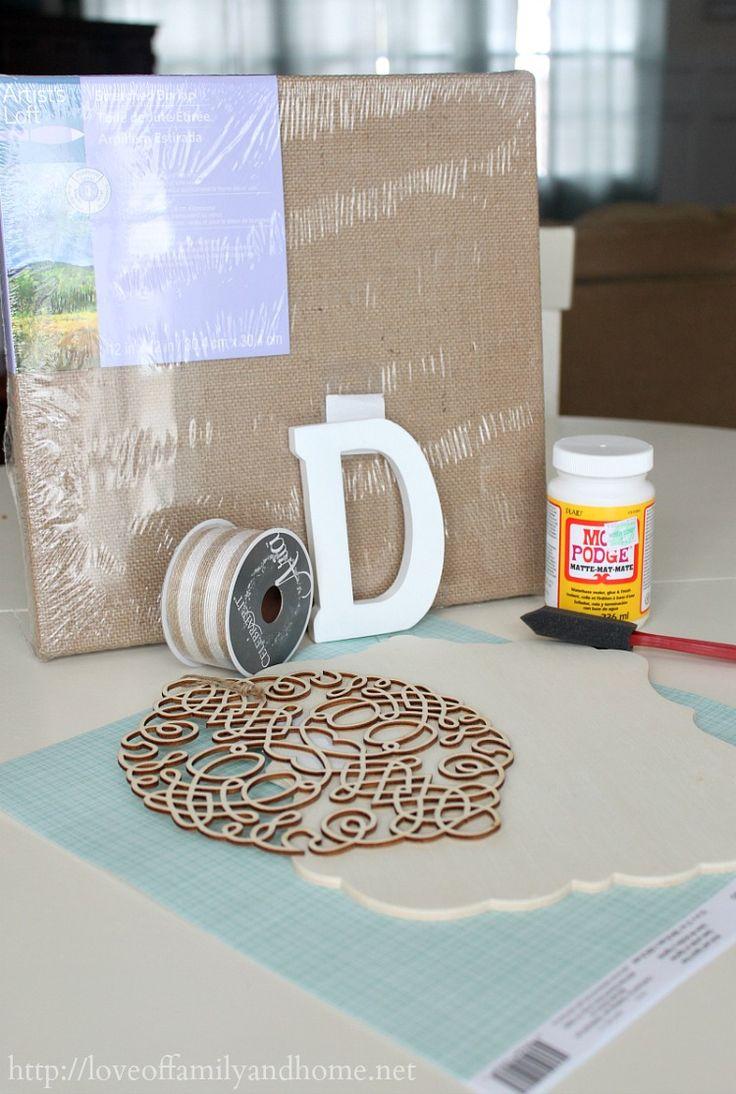 DIY Burlap Monogram {Michaels & Hometalk In-Store Pinterest Event} - Love of Family & Home