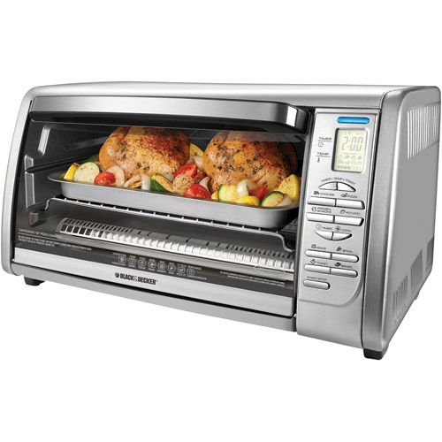 BLACK+DECKER 6-Slice Digital Convection Toaster Oven, Stainless Steel ...