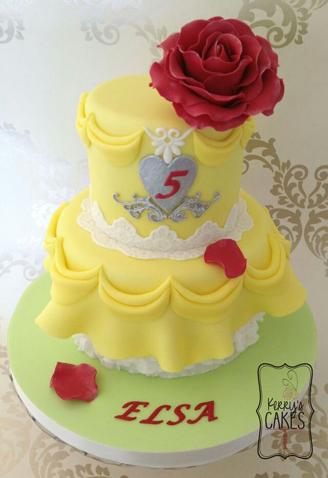 Princess Belle Decorations 18 Best Belle Cakes Images On Pinterest  Birthdays Princess