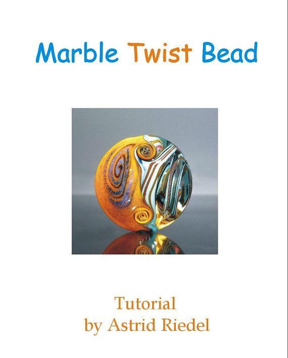 Marble Twist Bead  Tutorial  English/Deutsch by AstridRiedel, $20.00