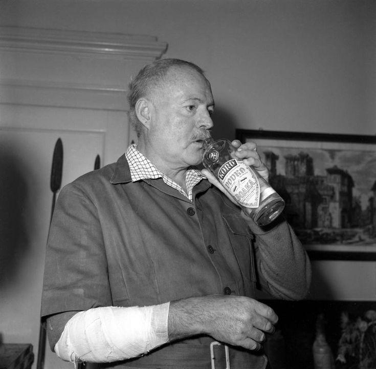Ernest Hemingway (that's vodka from the bottle)