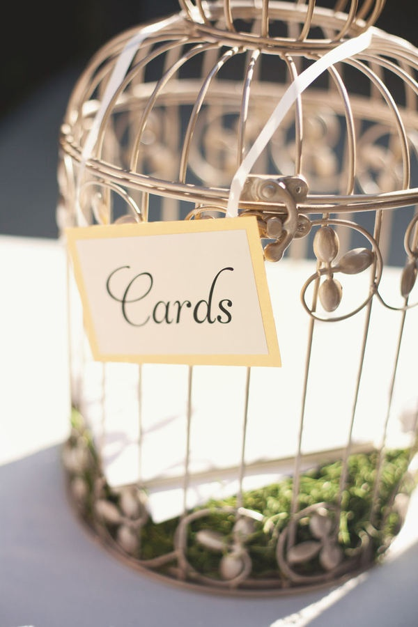 silver heart wedding place card holders%0A Birdcage for cards