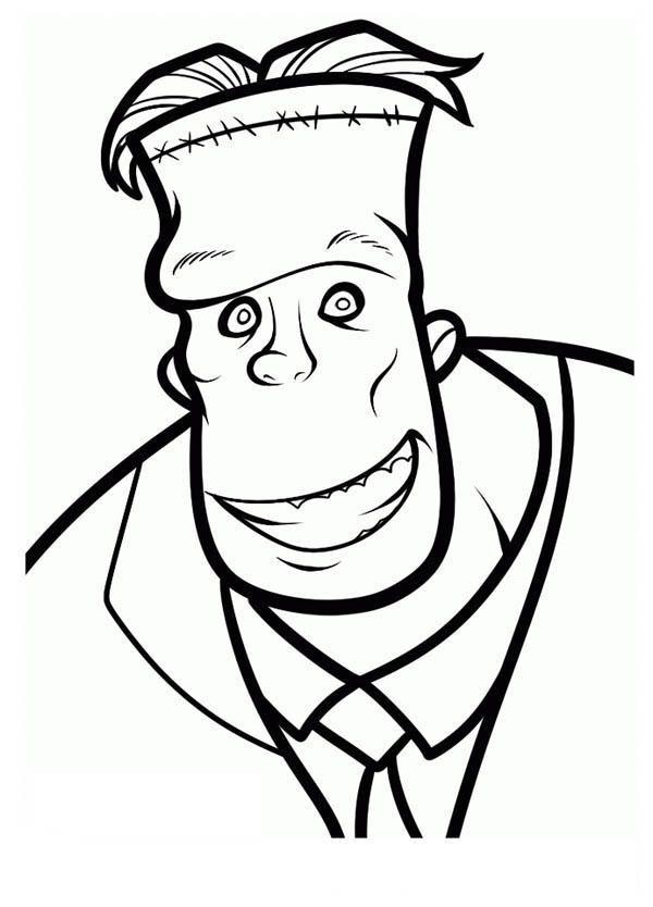 Smiling Frankenstein From Hotel Transylvania Coloring Pages Hotel Transylvania Characters Hotel Transylvania Drawings