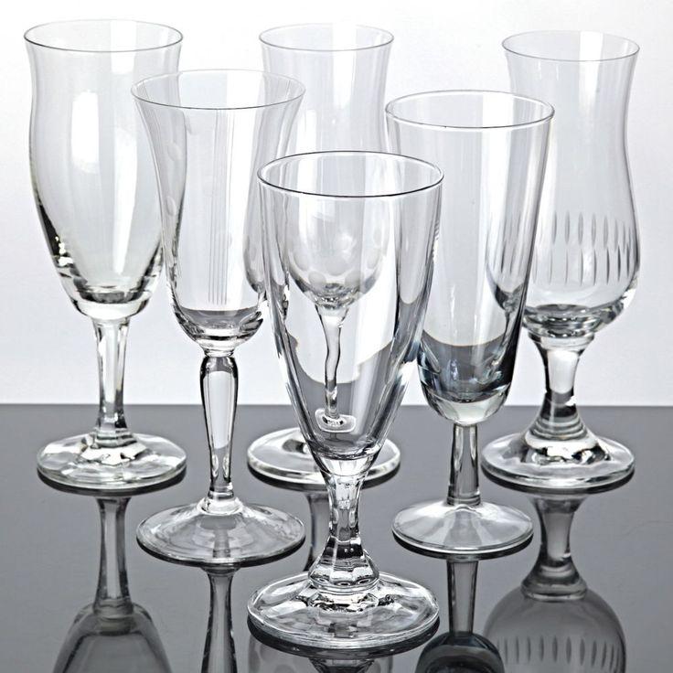 6 Sektgläser Set Gläser Sammlung Vintage Mix Sektkelche Trinkgläser verschiedene