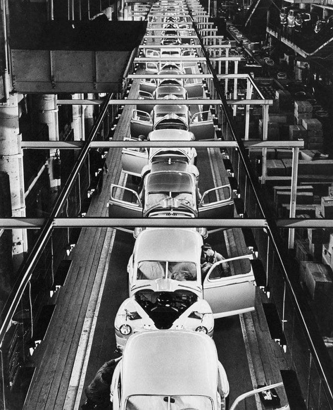 Ford Motor Company Assembly Line In Dearborn Mich