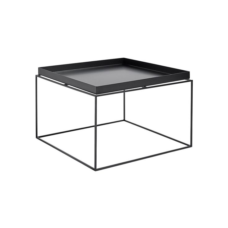 Add minimalistic style to your home with this Tray Coffee Table from HAY. A multifunctional designs sees a stylish removable serving tray create the surface of this table; meaning items that would be