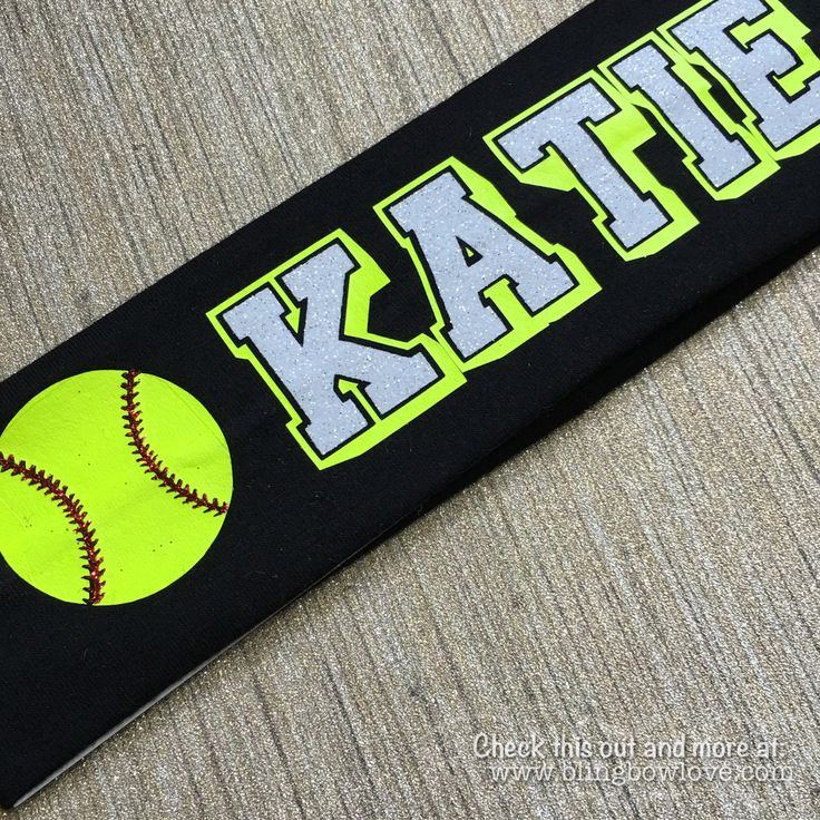 Softball Headband - Customize with name or team name
