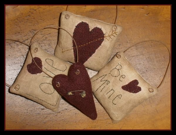 Set of Valentine Ornaments epattern. Instant Download. Make all 4 ornaments. $5.50