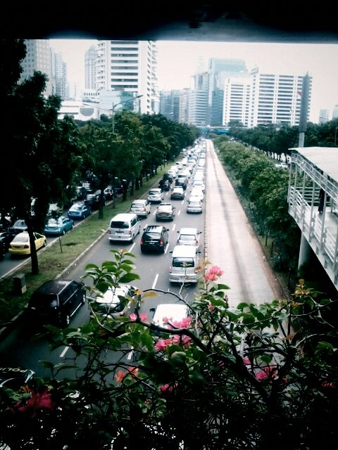 Traffic jam at Jakarta