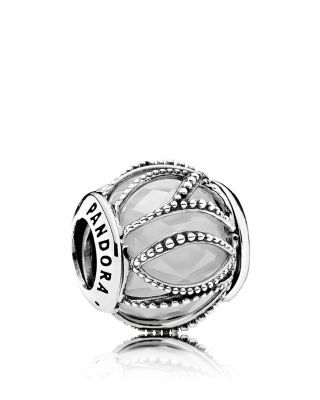PANDORA Charm - Sterling Silver, Cubic Zirconia & Glass Intertwining…