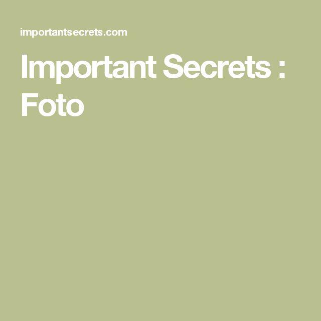 Important Secrets : Foto