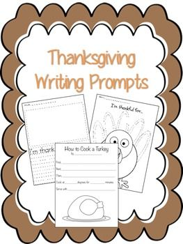 3 FREE Thanksgiving Writing Prompts