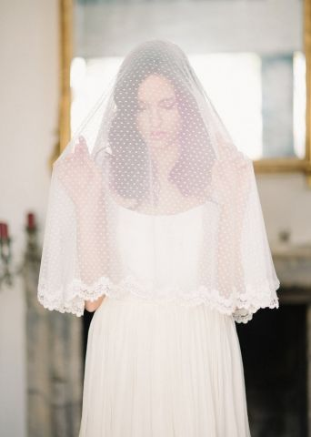 Swiss dot circle drop veil - lace trim - $350.00 : Marry Me Charlie, Your Online Wedding House   The Marketplace Making a Difference