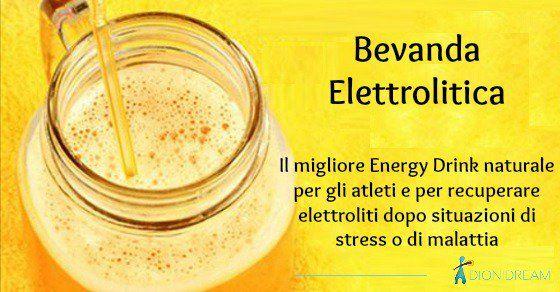 Come fare un Energy Drink naturale ricco di elettroliti