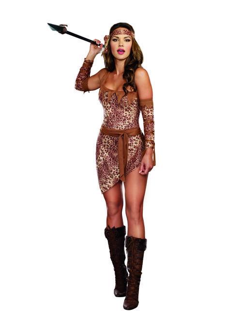 Ladies Sexy Jungle Fever Warrior Costume