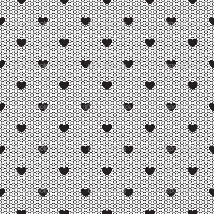 Черный фон с сердечками — стоковая иллюстрация #51994813