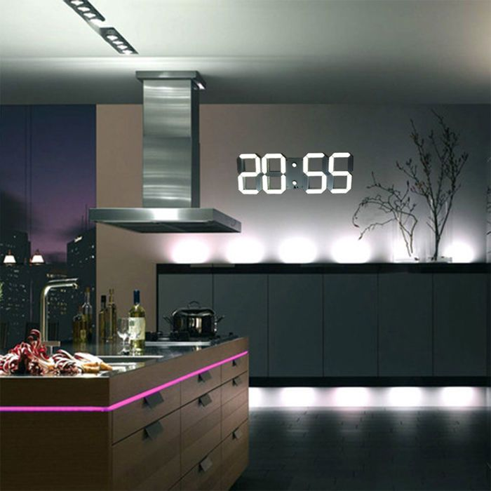 Large Modern Design Digital LED Wall Clock Watches 24 or 12 Hour Display on Sale | eBay