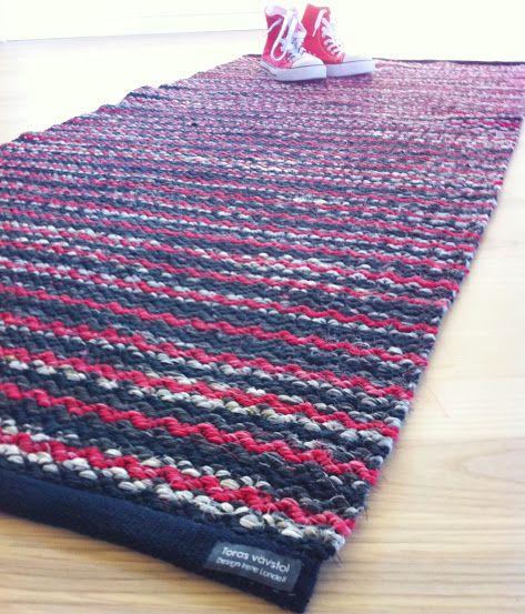Rosepath rag rug