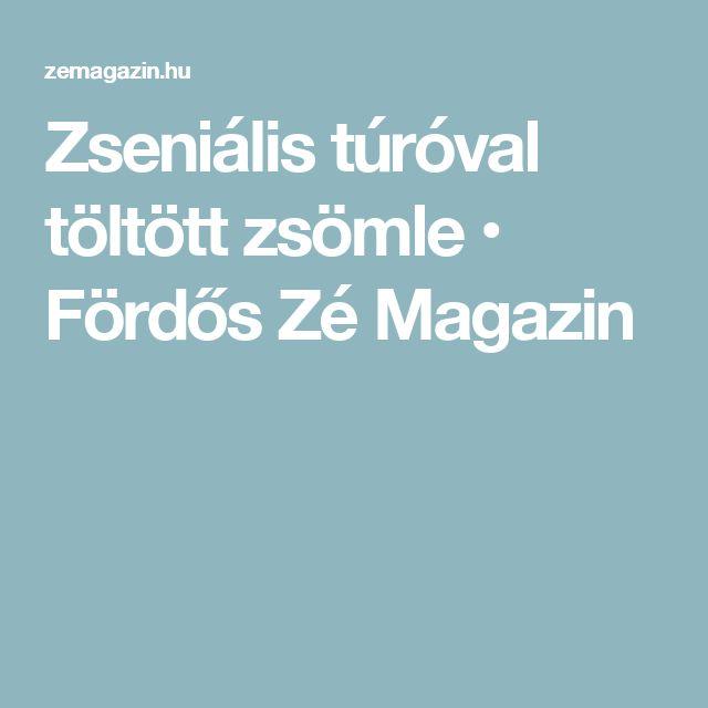 Zseniális túróval töltött zsömle • Fördős Zé Magazin