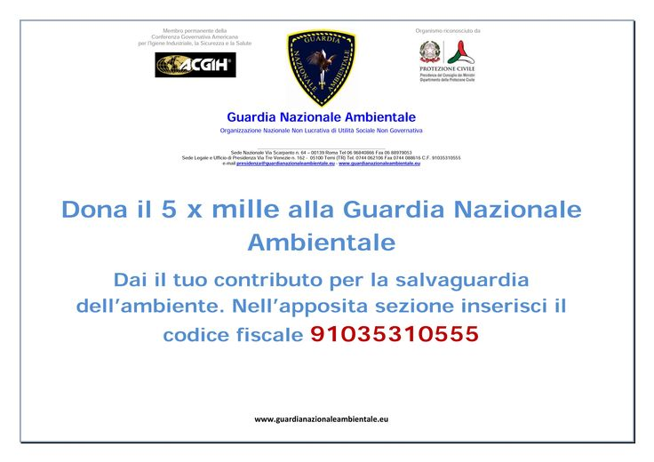 #5xmille #5permille #guardianazionaleambientale