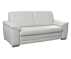 Divano Bossi a 3 posti in similpelle bianco - 200x90x87 cm