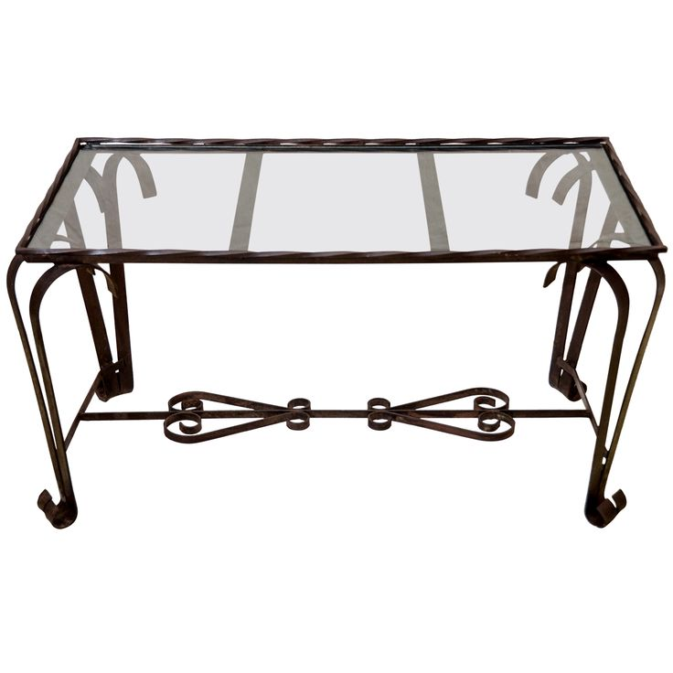 17 best ideas about wrought iron table legs on pinterest for Glass coffee table wrought iron legs
