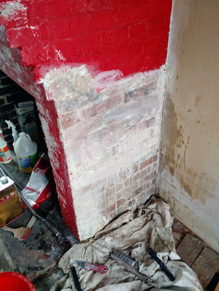 Our Content Home Blog Stripping Paint From A Brick Fireplace Check Out My Latest Renovation