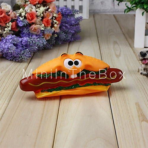 [EUR € 4.13]  - Rubber Hamburger Shape avec Hotdog Paws Motif Toy de grincement for Pets