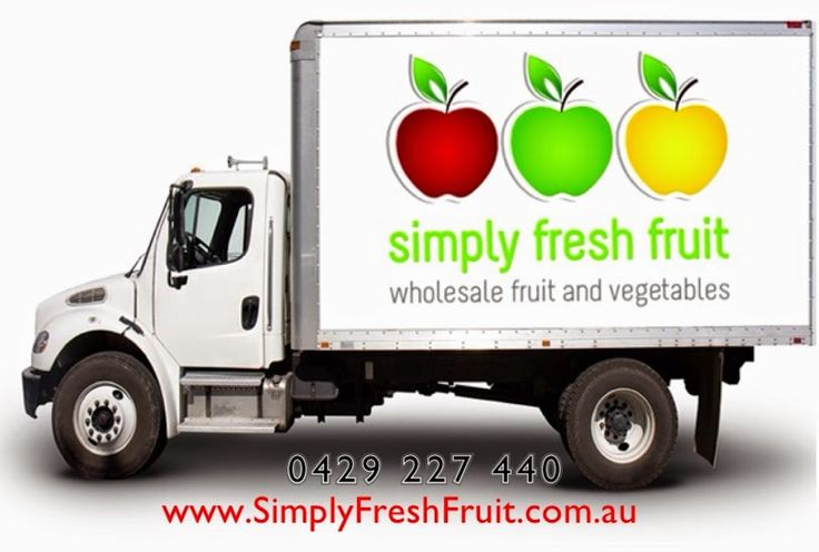 Simply Fresh Fruit Delivery Truck www.simplyfreshfruit.com.au