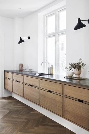 Floating Kitchen Cabinets Color Cabinetry Gardehvalsoe Styling Gitte Christensen 4