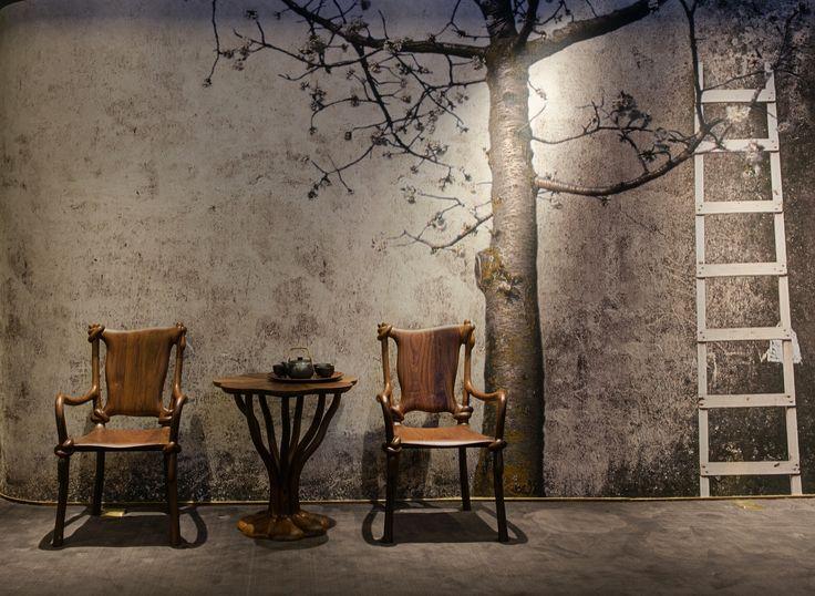 #wallpaper #cartadaparati #bedroom #decor #decoration #homestyling #homedercor #interiordesigner #interiordecorator #archilovers #designlovers #flowers #floral #rustic  #cherry #nature