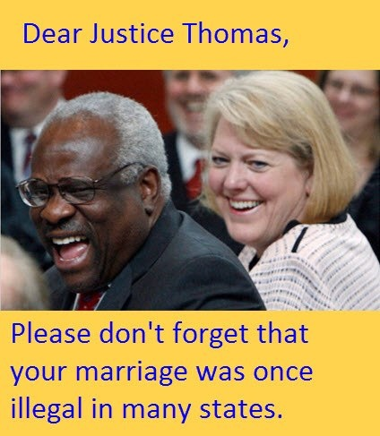 It sure was prohibited until challenged...somewhat like the challenge today. Don't believe it? Here: Loving v. Virginia, 388 U.S. 1 (1967),[1] was a landmark civil rights decision of the United States Supreme Court which invalidated laws prohibiting interracial marriage.