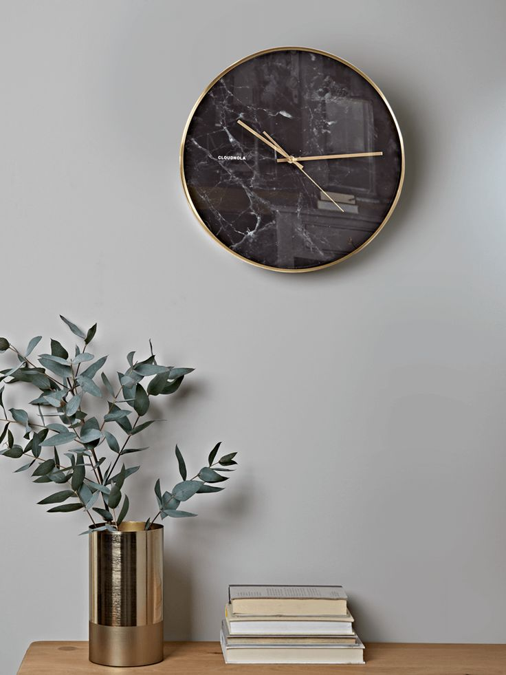 Encased In A Simple Brushed Brass Effect Frame With Matching Brass Hands  And An Elegant, Black Marble Effect Face, Our Statement Wall Clock Will  Make The ... Great Pictures