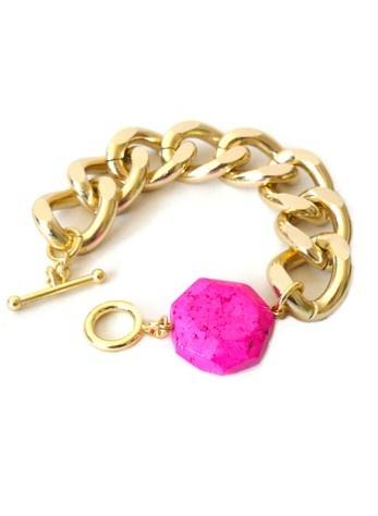 Neon Chunky Chain Bracelet