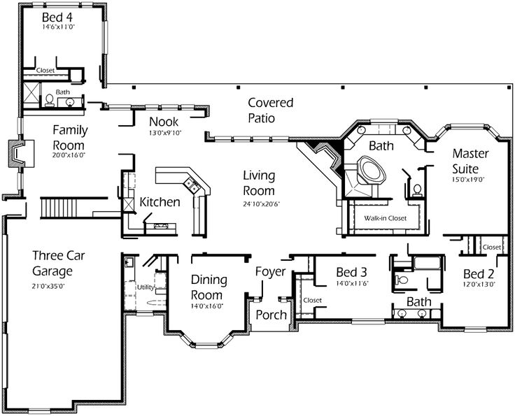 44 best house plans images on pinterest | house floor plans