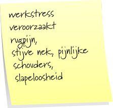 30% van het ziekteverzuim wordt veroorzaakt door werkstress.  http://www.dedragendenatuur.nl/