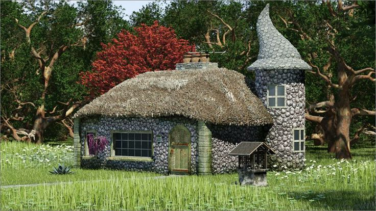 Tiny castle beautiful unique different homes pinterest for Small houses that look like castles