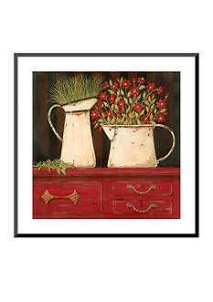 Art.com The Red Cupboard by Jo Moulton, Mounted Print Wood