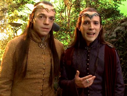 Elrond and Lindir | The Hobbit: Unexpected Journey 2012 | extented DVD extras