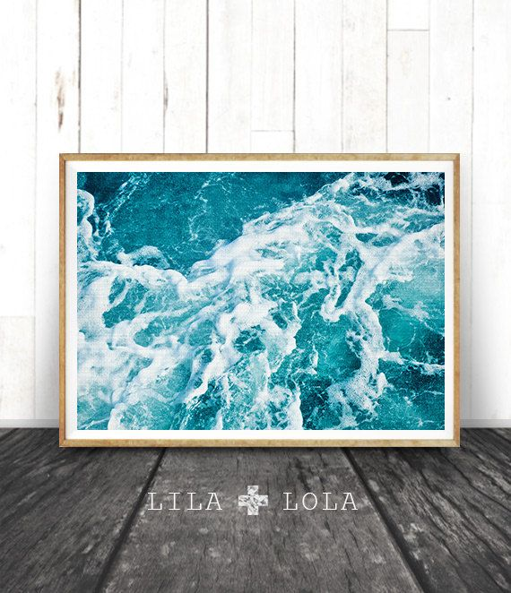 Strand Decor Print kust Decor Print Oceaan Decor door LILAxLOLA