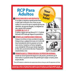 Adult CPR in Spanish (RCP para Adultos) Magnet - 4x5 - 25 Mil.
