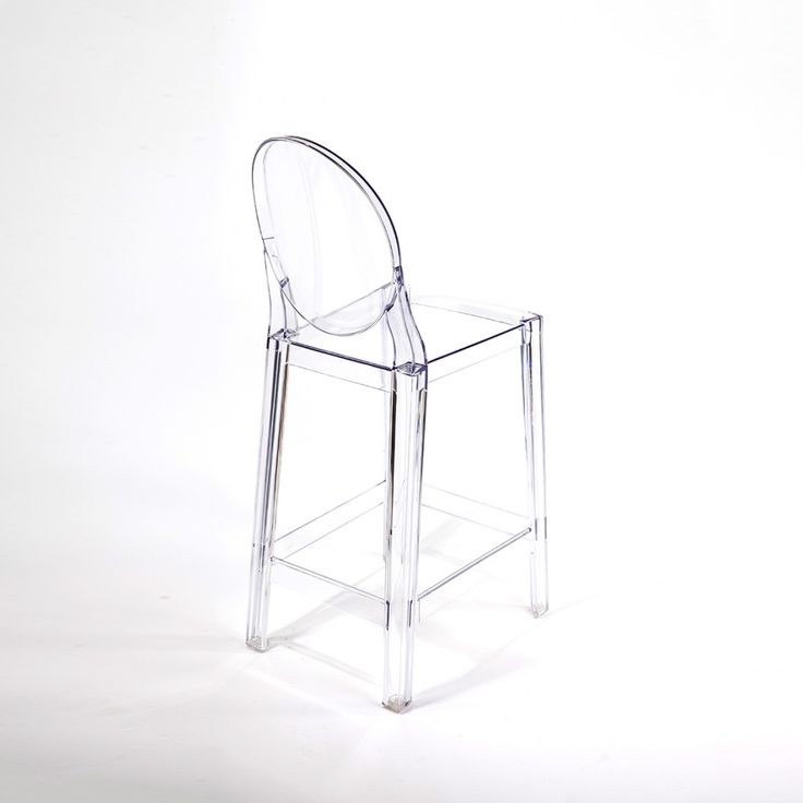 Modern Ghost Bar Stool - Counter Height Inspired by Philippe Starck